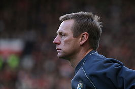 Pearce in 2006 als manager van Manchester City