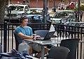 Student on laptop in Iowa City, Iowa (22041012645).jpg