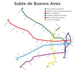 Buenos Aires Underground Wikipedia - Argentina subte map