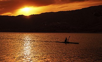 Hanna Lake - Sunset over Hanna Lake
