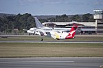 Sunstate Airlines 'QantasLink livery' (VH-QOI) Bombardier Dash-8 Q402 taking off from Canberra Airport.jpg