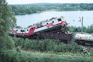 Suonenjoki rail collision - Image: Suonenjoen junaturma 1