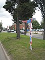 Sustrans cycle route marker in Station Road Didcot - geograph.org.uk - 940799.jpg