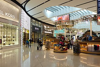 Sydney Airport - Sydney Airport Terminal 1 Restrict Area shops after renovation in 2016