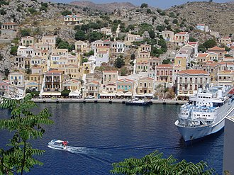 Symi - View of the port.