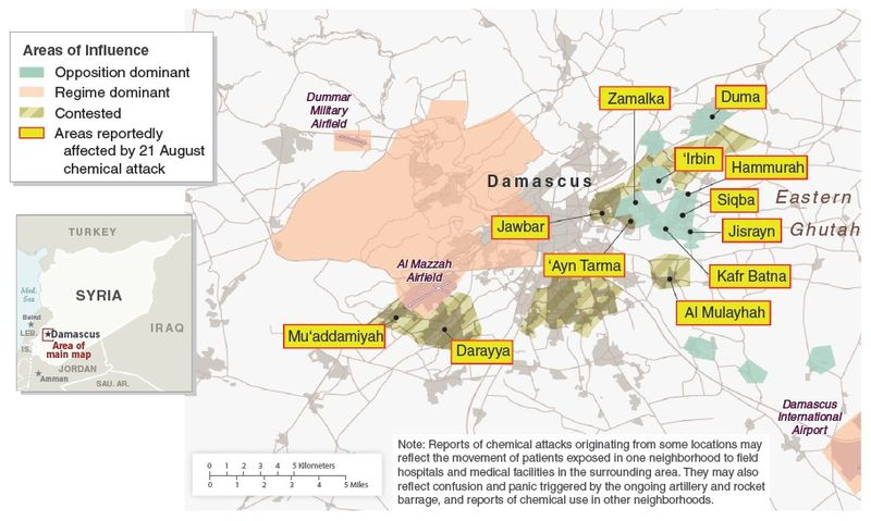 Syria - Damascus Areas of Influence and Areas Reportedly Affected by 21 August Chemical Attack.jpg