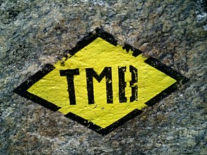 Tour du Mont Blanc - The official TMB sign