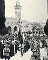 TURKISH SOLDIERS IN THE OLD CITY OF JERUSALEM, IN THE BEGINNING OF THE 20TH CENTURY. מראה כללי של חיילים טורקים בעיר העתיקה בירושלים, בצילום מראשית המ.jpg