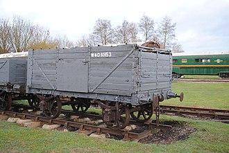 Taff Vale Railway - TVR four wheel 7-plank mineral wagon 10153