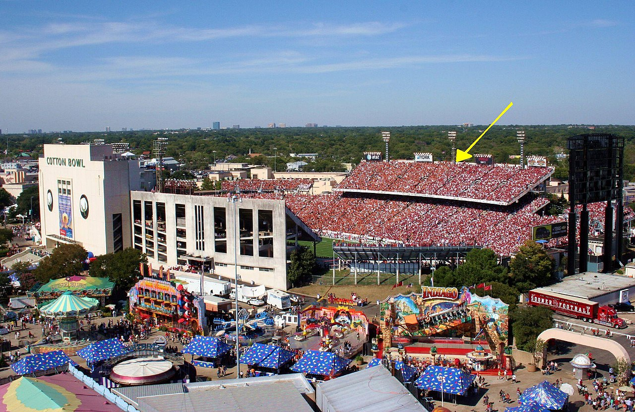Old Cotton Bowl Stadium Outside Food And Drinks