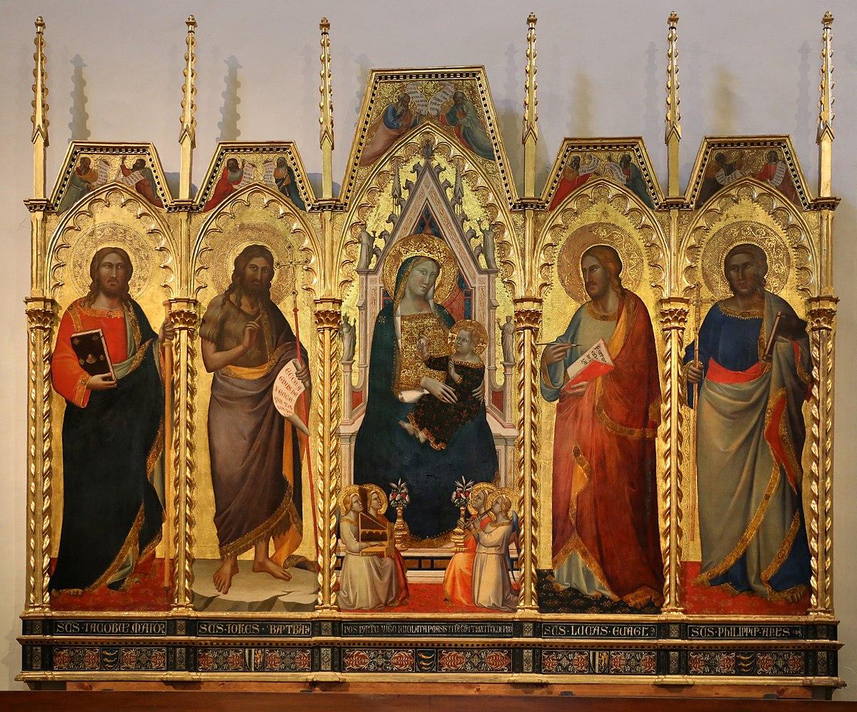 Pittura su tavola wikiversit - La tavola rotonda santa maria degli angeli ...