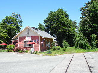 Millis Branch - The former station building at Dover, as seen in 2014