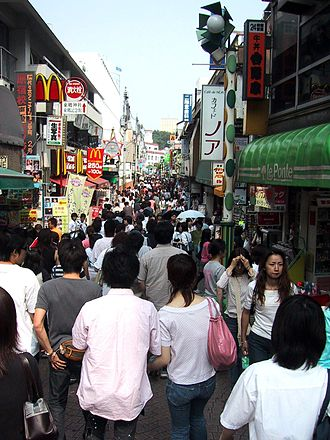 Tamagotchi! (anime) - The Takeshita street in Harajuku, Tokyo, where one of the anime's notable locations were based on.