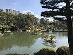 Takueichi Pond and Kokokyo Bridge in Shukkei Garden 2.jpg