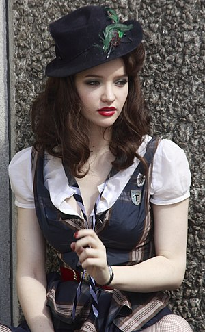 St Trinian's 2: The Legend of Fritton's Gold - Talulah Riley during filming in August 2009
