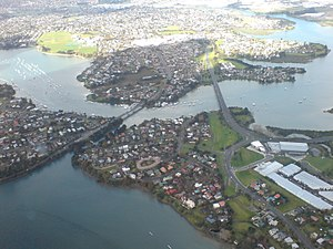Tamaki River - The middle of the estuary looking east