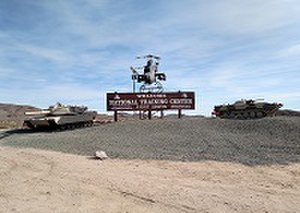 Fort Irwin National Training Center - National Training center sign.