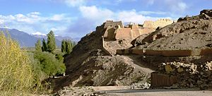 Tashkurgan Town - Ruins of Tashkurgan Fort in 2011.