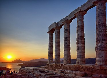 Temple of Poseidon at Cape Sounion, Greece.jpg
