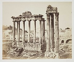 Temple of Saturn and Temple of Vespasian, Rome (3588905866).jpg