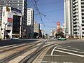 Teramachi-dori Street from platform of Tokaichimachi Station.jpg