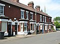 Terraced cottages in St Faiths Lane (geograph 5785028).jpg
