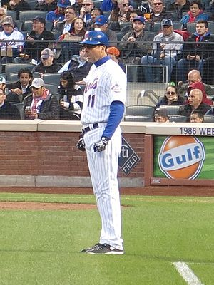 Tim Teufel - Teufel as the New York Mets third base coach