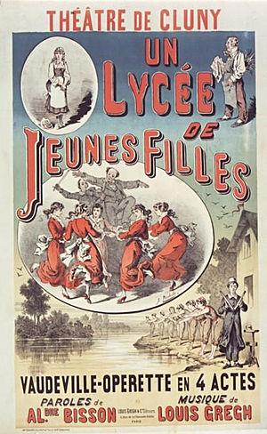 Théâtre de Cluny - Un lycée de jeunes filles (1882)