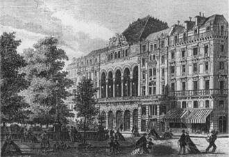 Théâtre de la Gaîté (rue Papin) - The Théâtre de la Gaîté on the rue Papin in 1862