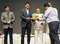 Thaawar Chand Gehlot presenting an award at the closing ceremony of the 1st International Film Festival for Persons with Disabilities, in New Delhi. The Minister of State for Information & Broadcasting.jpg