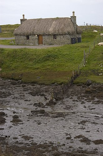 Benbecula - Thatched cottage on Benbecula