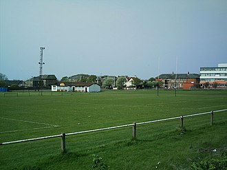 """Ardrossan Academicals RFC - Image: The """"Ardrossan Accies"""" Rugby Football Club geograph.org.uk 166605"""