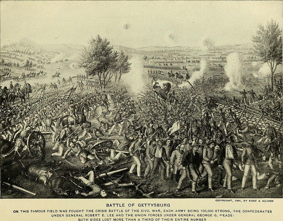 File The Battle Of Gettysburg Jpg Wikimedia Commons