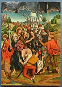 The Betrayal of Christ by Fernando Gallego and workshop, 1480-1488, oil on panel - University of Arizona Museum of Art - University of Arizona - Tucson, AZ - DSC08377.jpg