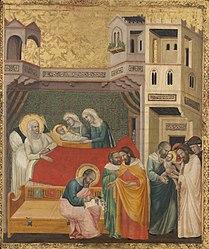Giovanni Baronzio: The Birth, Naming, and Circumcision of Saint John the Baptist
