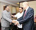 The CEO, British Petroleum, Mr. Robert Dudley and Shri Mukesh Ambani, meeting the Union Minister for Commerce & Industry and Textiles, Shri Anand Sharma, in New Delhi on September 28, 2011.jpg