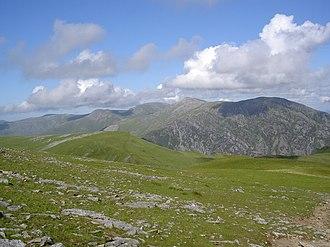 Welsh 3000s - The south-western end of the Carneddau range viewed from Elidir Fach, in the Glyderau range.
