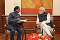 The Chief Minister of Telangana, Shri K. Chandrashekar Rao calls on the Prime Minister, Shri Narendra Modi, in New Delhi on February 16, 2015 (1).jpg