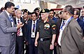 The Chief of Army Staff, General Bipin Rawat being briefed on latest trends in Geo-spatial intelligence, at the eleventh edition of Geo-Intelligence Asia 2018.JPG
