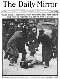 Black Friday (1910) womens suffrage event on 18 November 1910