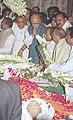 The Deputy Prime Minister Shri L.K. Advani paying homage to Governor of Kerala Shri Sikandar Bakht in New Delhi on February 24, 2004.jpg