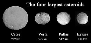 The Four Largest Asteroids