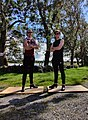 The Gardiner Brothers dancing in a country lane in Galway, Ireland.jpg