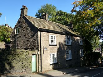 Disley - The Grey Cottage, where Allan Monkhouse lived from 1893 to 1902