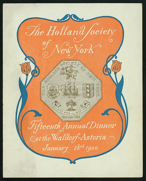 The Holland Society of New York Fifteenth Annual Dinner 1900