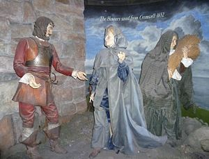Honours of Scotland - The Honours Saved From Cromwell. Tableau at Edinburgh Castle.