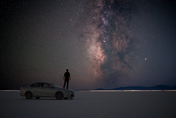The Milky Way Galaxy from the Bonneville Salt Flats, Utah, United States.jpg