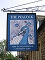 The Peacock sign - geograph.org.uk - 187181.jpg