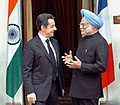 The Prime Minister, Dr. Manmohan Singh meeting with the President of France, Mr. Nicolas Sarkozy, in New Delhi on January 25, 2008.jpg