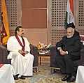 The Prime Minister, Shri Narendra Modi meeting the President of Sri Lanka, Mr. Mahinda Rajapaksa, at the 18th SAARC Summit, in Kathmandu, Nepal on November 26, 2014.jpg